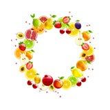 Венок свежих фруктов Стоковые Изображения RF