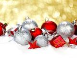 венок снежка украшений рождества смычка Стоковое фото RF