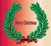 Венок с Рождеством Христовым бесплатная иллюстрация