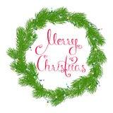 Венок с Рождеством Христовым Стоковая Фотография