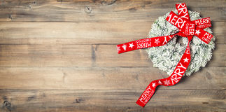 венок тесемки рождества красный сбор винограда типа лилии иллюстрации красный Стоковое Изображение