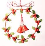 Венок ягоды декоративного металла красный Стоковые Фото