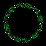венок mistletoe стилизованный Стоковая Фотография