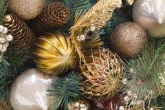 Венок Pinecone рождества Стоковая Фотография