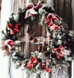 Венок Snowy стоковая фотография rf