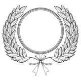 венок woodcut лавра Стоковая Фотография RF