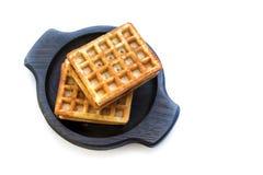 Венские waffles на белизне Стоковые Фото