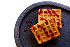 Венские waffles на белизне Стоковое Фото