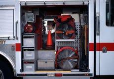 Вентиляторы на пожарной машине стоковые изображения rf