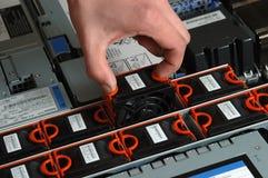 вентиляторы собирают внутри сервера Стоковые Изображения