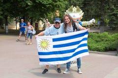 Вентиляторы Уругвая стоковые фото