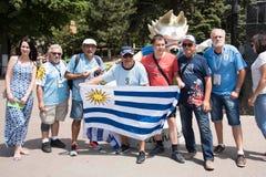 Вентиляторы Уругвая стоковые изображения rf