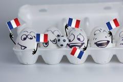 вентиляторы Франции футбола милый в дани стоковая фотография