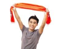 Вентилятор азиата футбола или футбола Стоковое Изображение RF