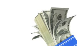 Вентилятор денег 100 долларов банкноты Стоковая Фотография RF