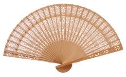 вентилятор деревянный Стоковая Фотография