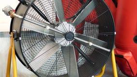 Вентилятор индустрии с решеткой видеоматериал