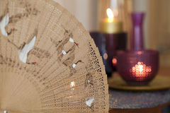 Вентилятор и свечки Китая Стоковые Изображения