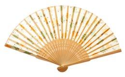 вентилятор крупного плана деревянный Стоковая Фотография