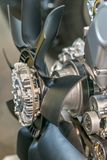 Вентилятор, пропеллер, для охлаждения на воздухе двигатель Стоковая Фотография RF