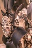 Вентилятор, пропеллер, для охлаждения на воздухе двигатель Стоковое фото RF