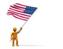вентилятор США Стоковая Фотография
