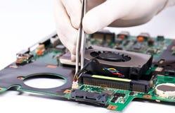 вентилятор устанавливая компьтер-книжку Стоковое фото RF