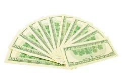 вентилятор доллара Стоковая Фотография