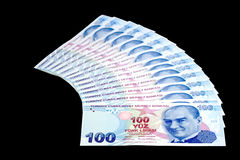 вентилятор 100 лир Стоковое Изображение RF