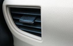 вентиляционное отверстие в автомобиле стоковое фото rf