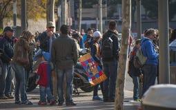 Вентиляторы Барселоны стоковая фотография