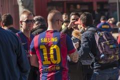 Вентиляторы Барселоны стоковое фото