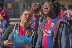 Вентиляторы Барселоны стоковые изображения