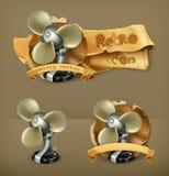 Вентиляторы, значки вектора Стоковые Фотографии RF
