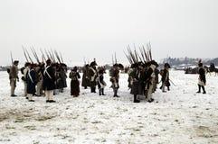 Вентиляторы истории в воинских костюмах Стоковые Фотографии RF