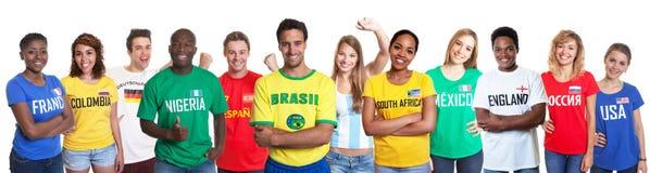 Вентиляторы спорт от 12 наций стоковая фотография rf