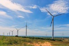 Вентиляторы энергии ветра Стоковые Фотографии RF