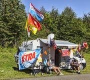 Вентиляторы Le Тур-де-Франс Стоковое Фото