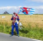 Вентилятор в начале Тур-де-Франс 2016 стоковое фото rf