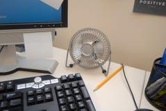 Вентилятор настольного компьютера Стоковое фото RF