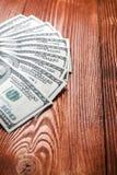 Вентилятор 100 долларов банкнот Стоковая Фотография