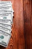 Вентилятор 100 долларов банкнот Стоковое Изображение RF