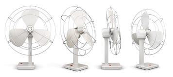 Вентилятор таблицы в различных углах 3d представляют цилиндры image Стоковая Фотография RF