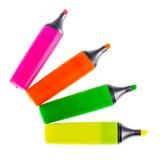 Вентилятор highlighters цвета Стоковое Изображение