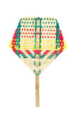 Вентилятор Weave красочный изолированный на белизне Стоковые Изображения RF