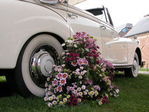 венчание автомобиля букета Стоковое фото RF