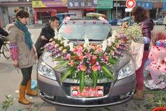 венчание автомобиля китайское Стоковое фото RF