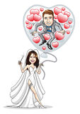 венчание воздушного шара Стоковое фото RF