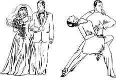 венчание выражения танцульки Стоковая Фотография
