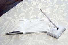 венчание гостя книги стоковое изображение rf